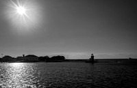 Nantucket Island Lighthouse B&W 2