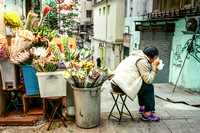 Flower Lady, Central, Hong Kong (35mm Film)